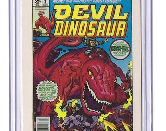 Marvel #1 Devil Dinosaur Comic Card from 1984 FTCC