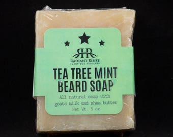 Tea Tree Mint Beard Soap