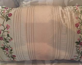 Patio Garden Silk Pillow 16x26