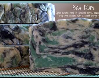 Bay Rum - Rustic Suds Natural - Organic Goat Milk Triple Butter Soap Bar - 5-6oz. Each