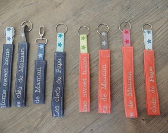 Keychain made embroidery pattern of your choice
