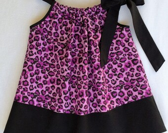 Baby Girl Dress,Leopard Print Dress, Baby Dress, Toddler Dress, Pillowcase Dress, Party Dress, Baby Clothing