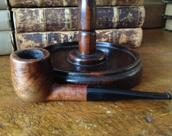 Vintage London 1940s Briar Estate Pipe // Carey Magic Inch ~ Algerian Briar Wood