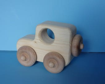 Jeep toy Car pine with maple wheels
