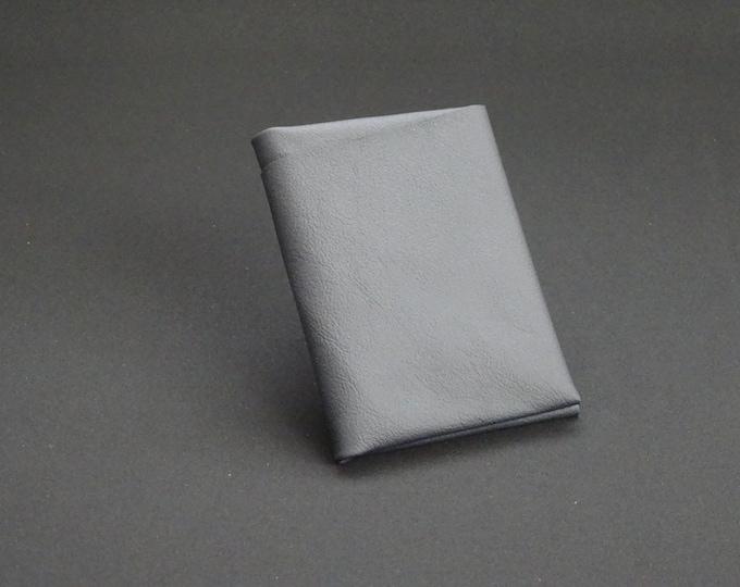 Bantam8Note Wallet with Black Zip - Genuine Kangaroo Leather Card Mens Womens Zipper Coin Purse Wallet RFID Handmade - Matte Black