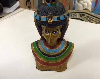 Vintage Egyptian Queen Cleopatra Statue