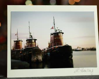 Providence Tugboats Photo Greeting Card