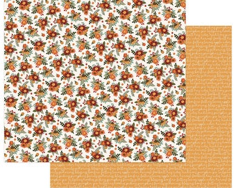 2 Sheets of Photo Play AUTUMN ORCHARD 12x12 Fall Theme Scrapbook Cardstock Paper - Grateful