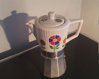Vintage Italian Moka pot stove top coffee maker