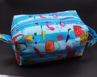 Glamour Queen Bag, Shopper's Clutch, Cosmetics Clutch, Makeup Case, Travel Bag, Beauty Kit, Gifts for Her, Toiletry Kit, Ditty Bag
