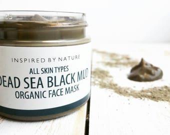 Dead Sea Black Mud Facial Mask, Face Mask, Organic Skin Care, Detoxifying Mask, Dead Sea Mud Mask, Skin Care, Natural Skin Care, Facial Mask