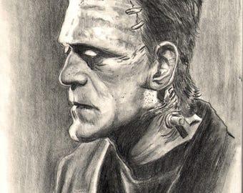 Frankenstein monster poster print by Matthew Parmenter