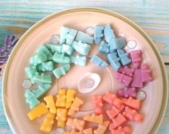 Gummy bear soap mini set 100 baby boy girl shower teddy bear soap bath kids party gift animal soap teacher gift fan novelty cute guest soap