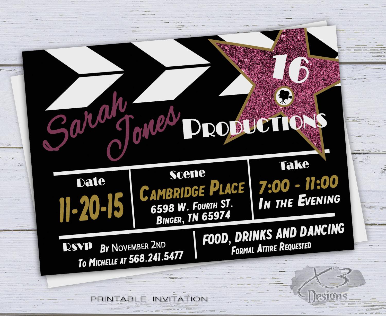 Printable Sweet 16 Birthday Invitations Surprise 30th