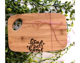 "Mini ""Home Sweet Home"" Cutting Board. Token Gift."