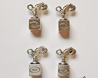 8 pen and ink well bottle writing charms - SCI102