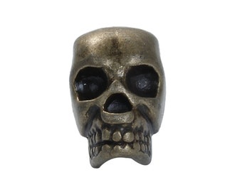 Antique Bronze Skull Bead  Metal alloy 1 peace