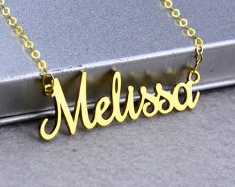 Nombre personalizado collar personalizado placa collar, collar de oro, collar delicado, nombre encanto, nombre joyería colgante, personalizada, regalos chica