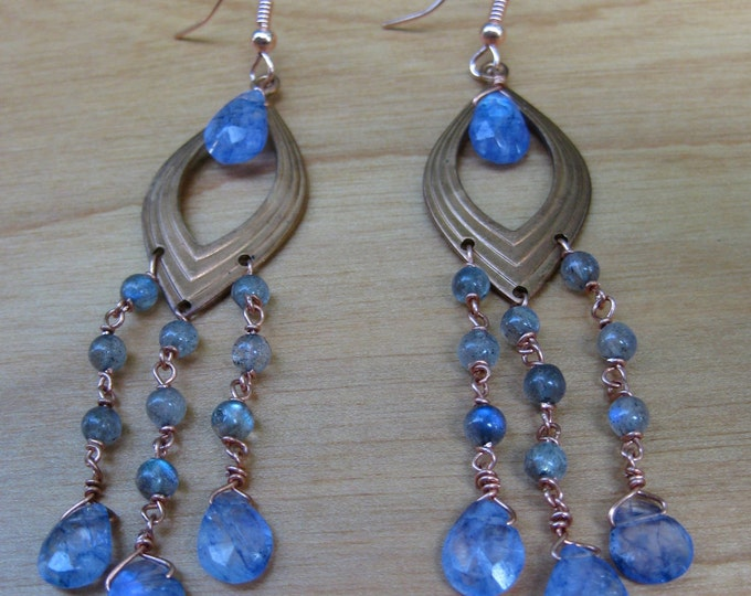 Insouciant Studios Aeris Earrings Stunning Spectrolite Labradorite
