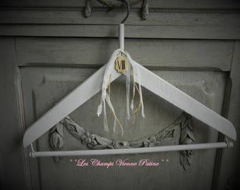 Antique patina shabby lace LCV hanger