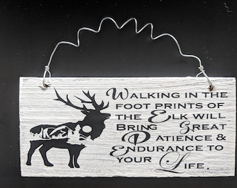 Elk Sign of Reclaimed Barn wood