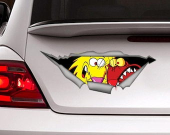 Angry beavers car decal, angry beavers sticker, Vinyl decal, funny sticker, movie decal, car sticker