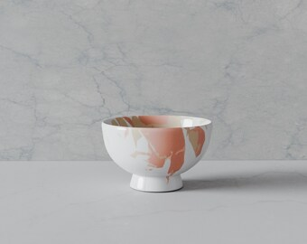 Custom Abstract Bowl. Bowl with abstract design painted on, a perfect MidCentury addition to a chic interior