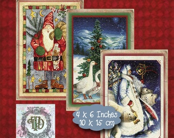 6 Christmas Tags Set 2