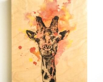 Giraffe Painting Animal Art on Wood Giraffe Nursery Art Decor Giraffe Art Painting on Wood Wall Art Nursery Decor Animal Art Painting Decor