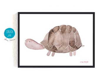 Art Print / small poster *turtle*