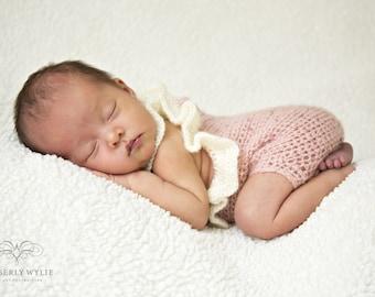 Newborn Mohair Ruffle Razorback Onesie