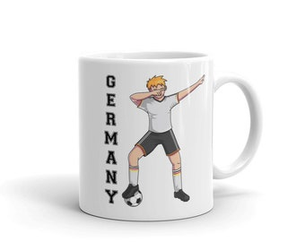 Germany Soccer Mug Germany 2018 German Soccer Coffee Mug Dabbing Soccer Player Soccer Tea Cup Soccer Gift Deuschland Soccer