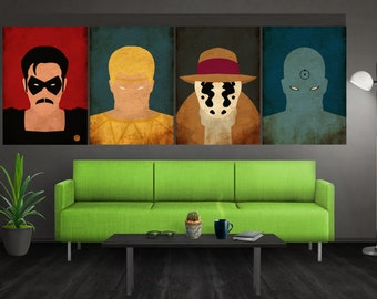 Minimalist Watchmen Poster Set Watchmen Print Watchmen Wall Art Comedian Ozymandias Rorschach Doctor Manhattan Poster Set