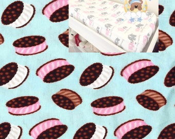 Flannel Changing Pad Cover Boy Girl Nursery Cupcake Contoured Changing Pad Cover 100% Cotton Cover Flannel Modern Nursery Baby Boy Girl