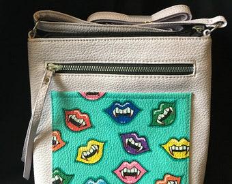 Rainbow Vampire Lips Shoulder Bag