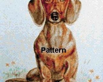 Dachshund. Cross Stitch Pattern. PDF Files.