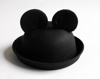 Disney Derby Hat // Mickey ears hat // Kids Mickey Ears // Mickey Bowler Hat // Mickey hat