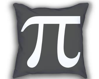 Pi Symbol mimimal math throw pillows