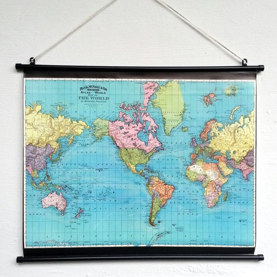Items similar to vintage world map giant poster world map wall art items similar to vintage world map giant poster world map wall art decor bohemian home decor old school chart on etsy gumiabroncs Choice Image