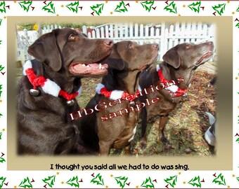 Chocolate Labs Christmas Caroling for Figgy Pudding