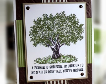 Father's Day Card- Stampin' Up A Father is Someone...