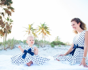 Mother daughter matching dresses, also bow tie or tie (of your choice) for dad as gift, matching outfits, mommy and me, clothing, christmas