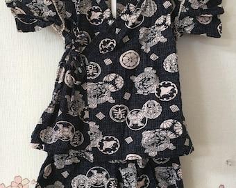 Toddler Kimono, Blue Dragon Design, Baby Kimono, Child Kimono, Baby Gifts, Baby Jinbei, Photo Prop Idea, Ninja Outfit, Kawaii