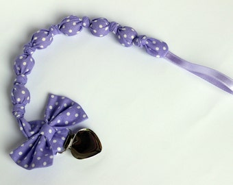 Purple pacifier clip, Baby pacifier, Girl pacifier clip, Binky clip, Dummy holder, New baby girl gift, Purple baby shower gift
