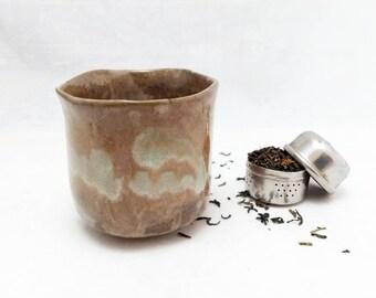 Ceamic glass. Tea or coffe. Contemporary ceramics