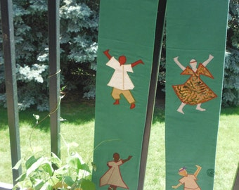 Clergy Stole - Green for Ordinary Time - with Multicultural Praise Dancers
