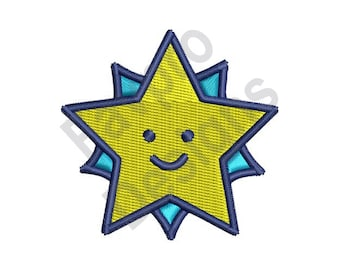 Smiling Star - Machine Embroidery Design