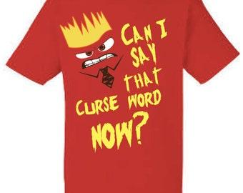 Anger, anger t-shirt inside out