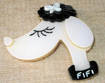 Fifi Dog brooch