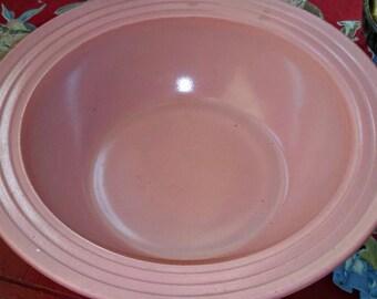 Sale-Vintage Unique Pink Milk Glass Bowl